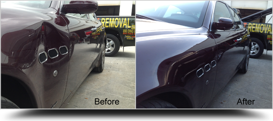 Paintless-Dent-Removal-Maserati-Left-Fender-Royal-Palm-Beach