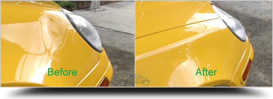 Paintless-Dent-Removal-Fender-SLK-Lake-Worth-PalmBeachDentRepair