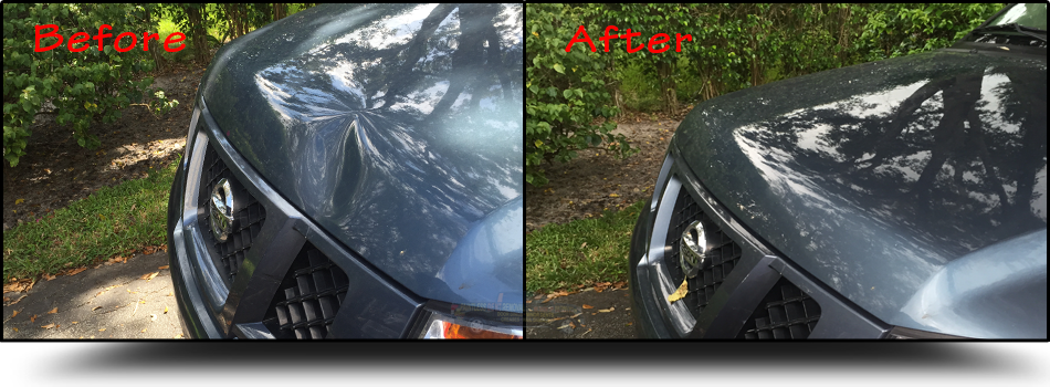 Paintless-Dent-Removal-Nissan-Hood-Jupiter-Fl-33477